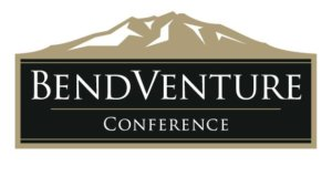 BendVenture conference logo with brown mountain in background