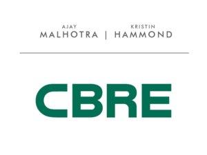 logo for CBRE Ajay Malhotra and Kristin Hammond