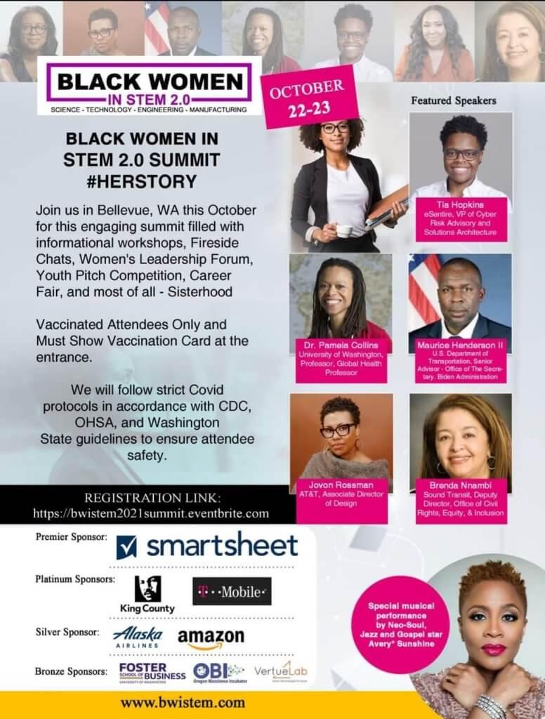 black women in STEM conference flyer