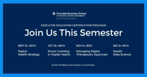 Join us this semester at Columbia Business School courses