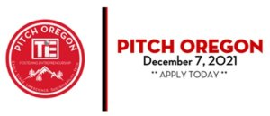 Pitch Oregon logo with red and black lettering on white background